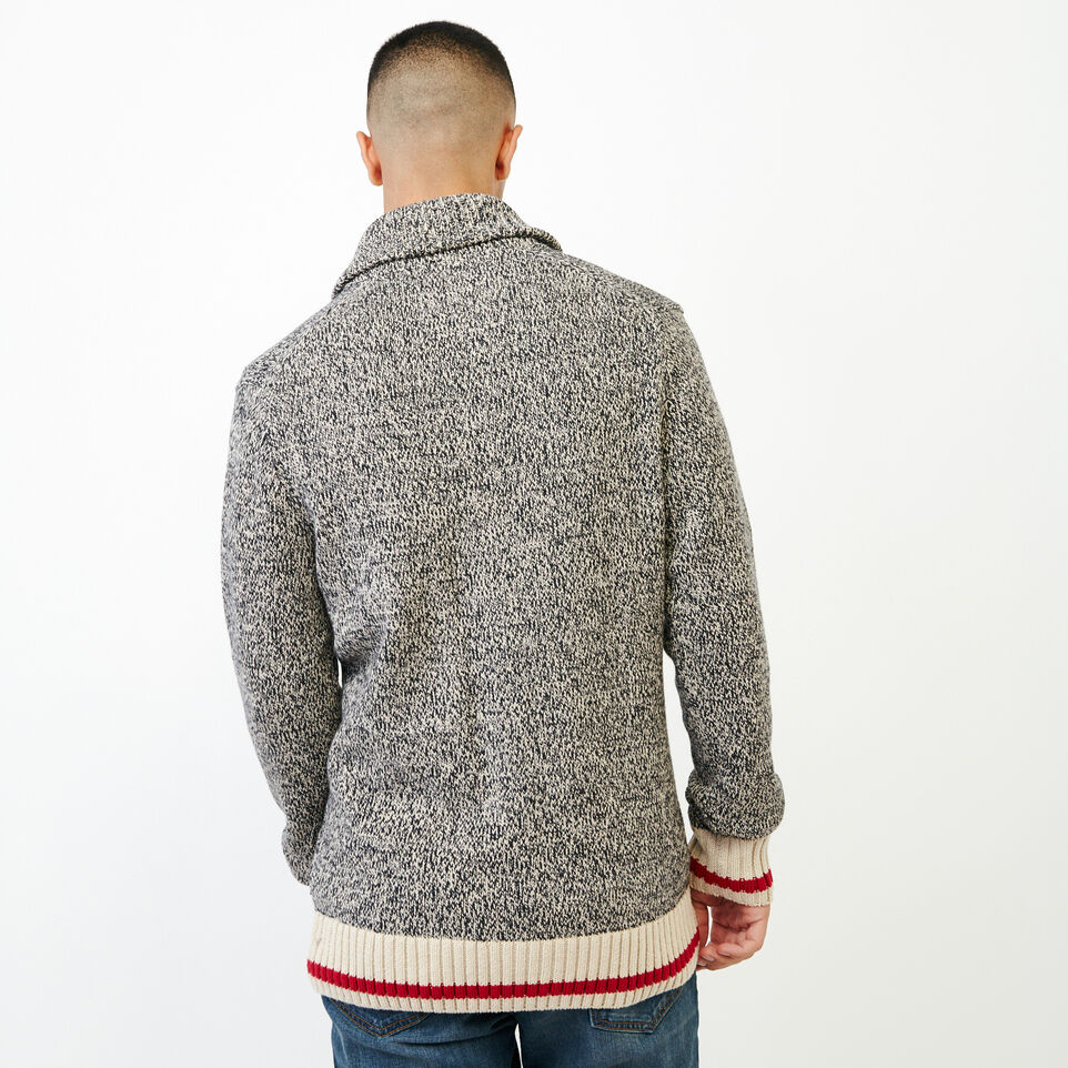 Roots-Men Sweaters & Cardigans-Roots Cotton Cabin Cardigan-Speckle-D