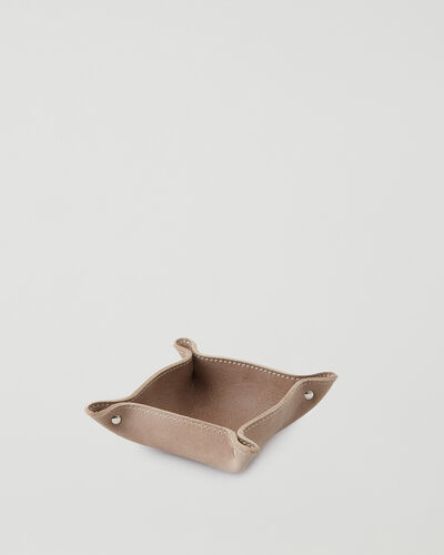 Roots-Leather Leather Accessories-Small Leather Tray Tribe-Sand-A