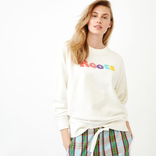 Roots-Women Bestsellers-Kinkora Crew Sweatshirt-Cannoli Cream-A