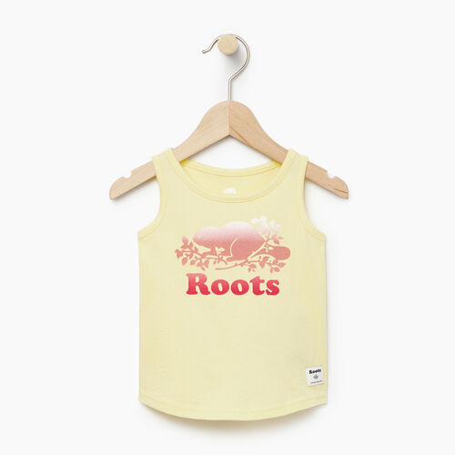Roots-Clearance Kids-Baby Gradient Cooper Beaver Tank-Lemon Meringue-A