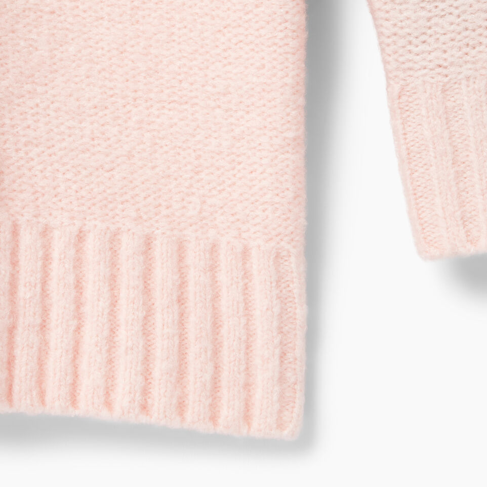 Roots-Clearance Kids-Girls Cable Knit Tunic Sweater-Light Pink-D