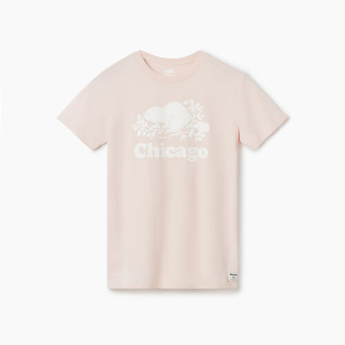 Roots-Sale Tops-Chicago T-Shirt - Womens-Pink Cloud-A