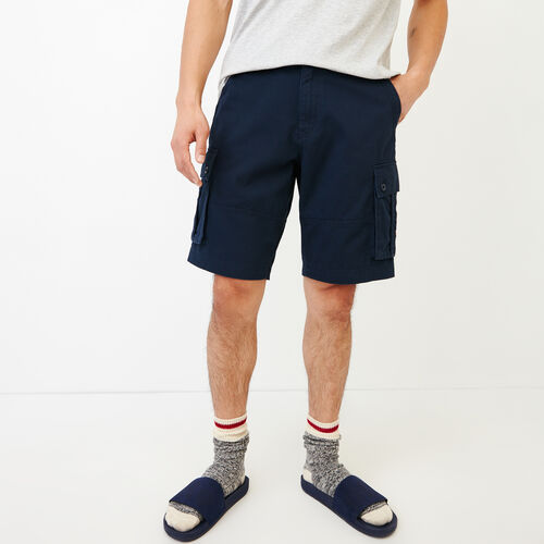 Roots-Men Our Favourite New Arrivals-Burlington Cargo Short-Navy Blazer-A