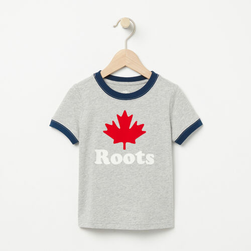 Roots-Kids T-shirts-Toddler Maple Ringer T-shirt-Grey Mix-A