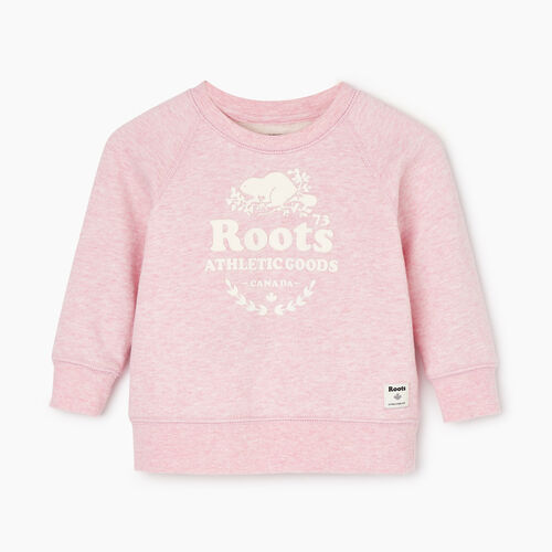 Roots-Kids Baby Girl-Baby Laurel Crewneck Sweatshirt-Fragrant Lilac Mix-A