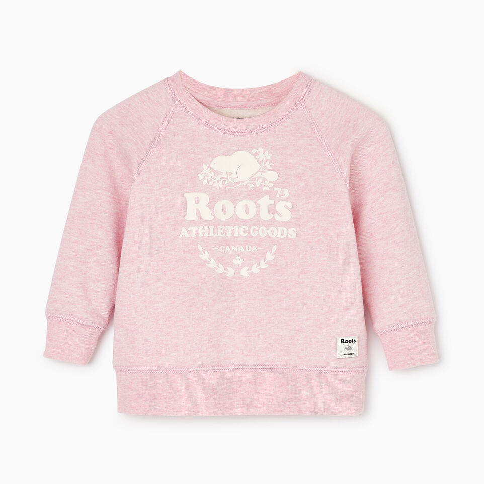 Roots-New For December Kids-Baby Laurel Crewneck Sweatshirt-Fragrant Lilac Mix-A