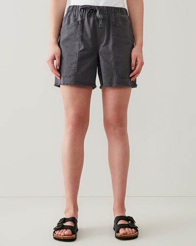 Roots-Shorts Women-Margaree Pocket Short 5.5 In-Charcoal-A