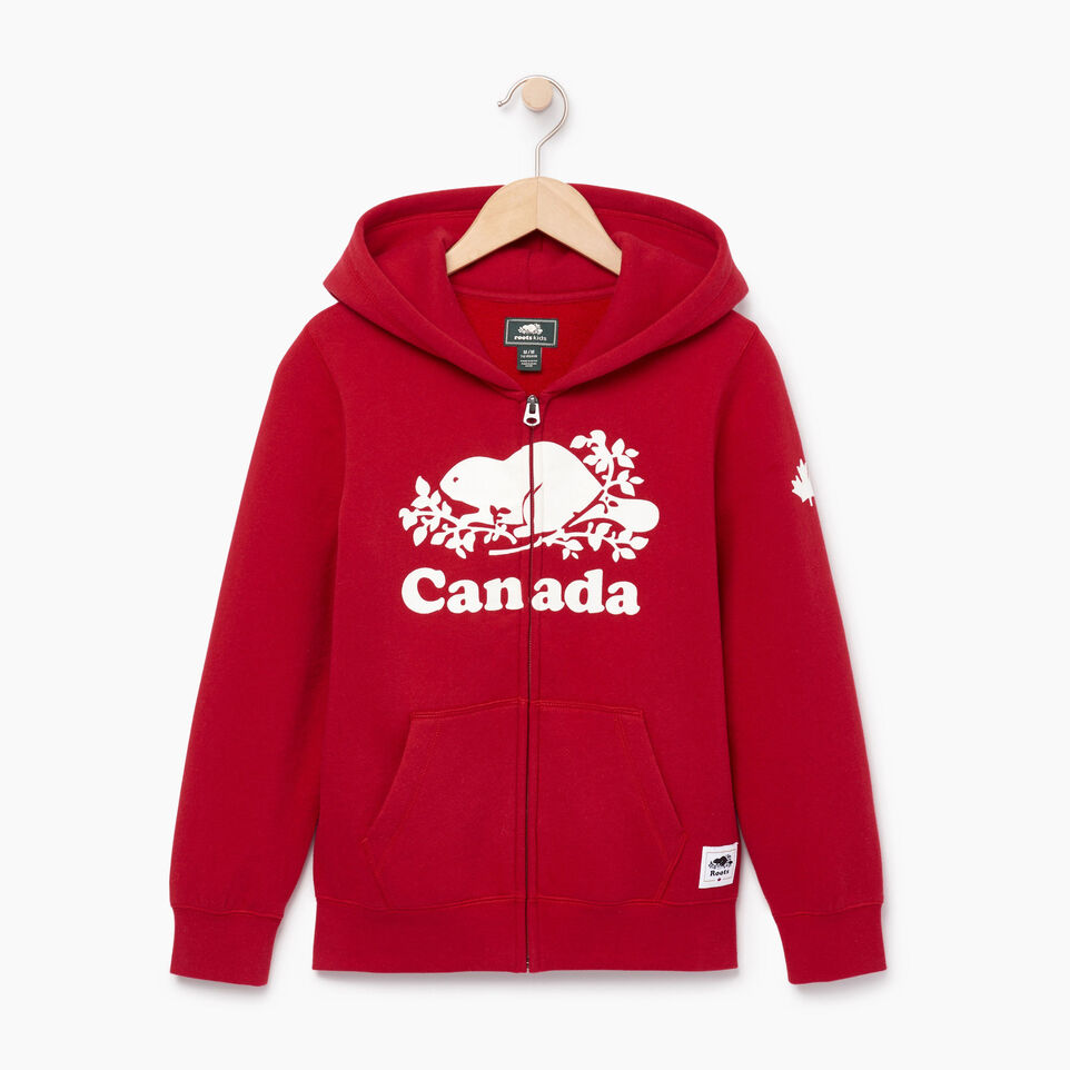 Roots-Kids Our Favourite New Arrivals-Boys Canada Full Zip Hoody-Sage Red-A