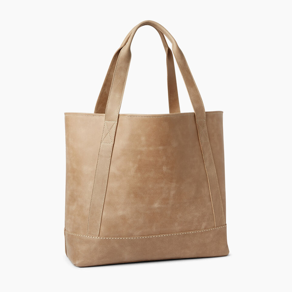 Roots-Leather  Handcrafted By Us Handbags-Muskoka Tote-Sand-C