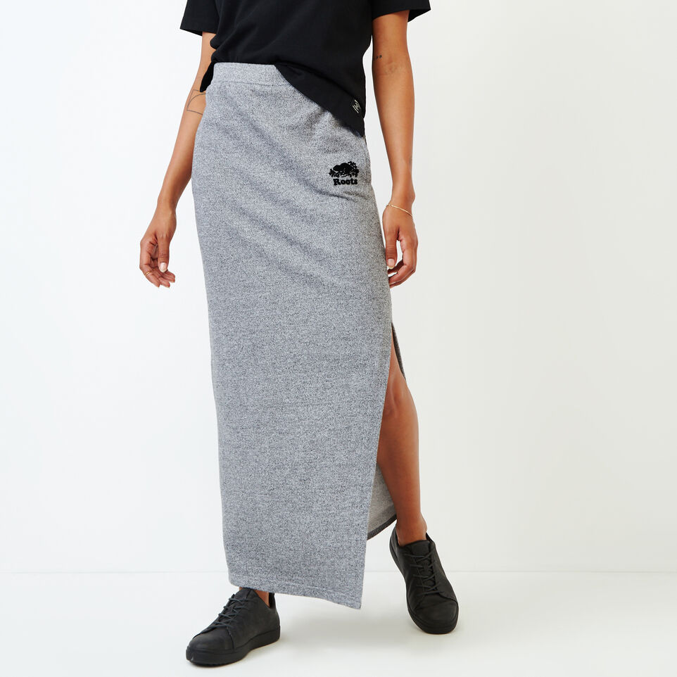 Roots-undefined-Roots Salt and Pepper High Waist Skirt-undefined-A