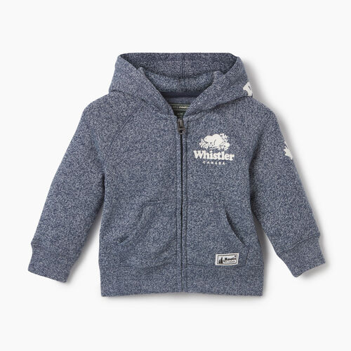 Roots-New For May City Collection-Baby Boy Whistler Full Zip Hoody-Blue Iris Pepper-A