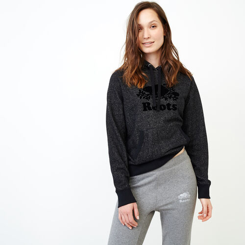 Roots-Women Sweatshirts & Hoodies-Original Kanga Hoody-Black Pepper-A
