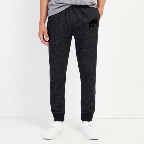 Roots-Men Bottoms-Park Slim Sweatpant-Black Pepper-A