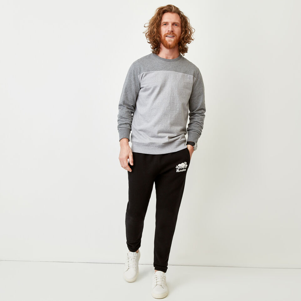 Roots-Men Our Favourite New Arrivals-Fraser Crew Top-Quarry Mix-B