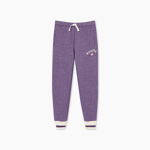 Roots-Kids Girls-Girls Cabin Cozy Sweatpant-Loganberry Pepper-A