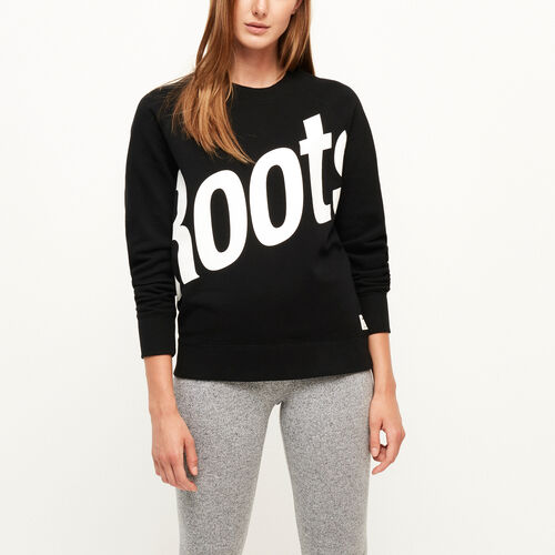 Roots-Women Bestsellers-Cameron Crew Sweatshirt-Black-A