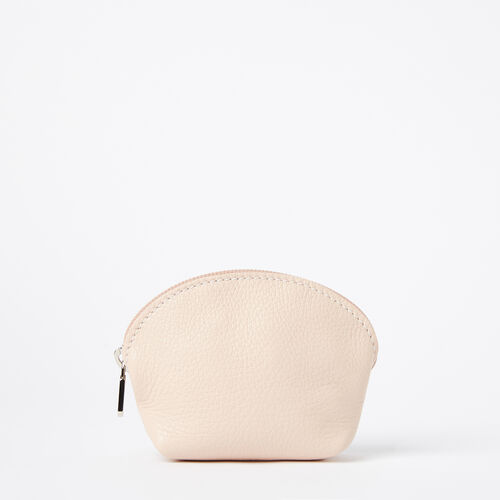 Roots-Women Leather Accessories-Small Euro Pouch Prince-Blush-A