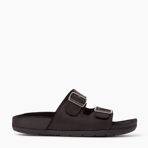 Roots-Women Footwear-Womens Cobourg Sandal-Black-A