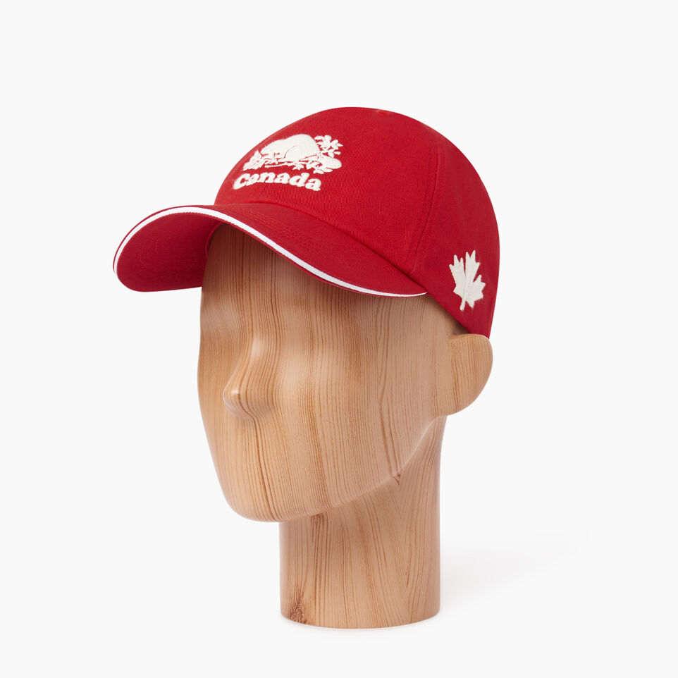 Roots-Men Our Favourite New Arrivals-Canada Baseball Cap-Red-B