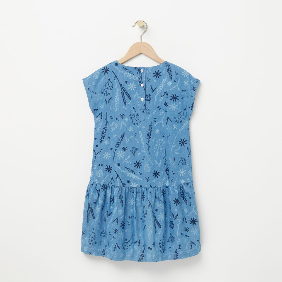 Roots-undefined-Girls Denim Floral Dress-undefined-B