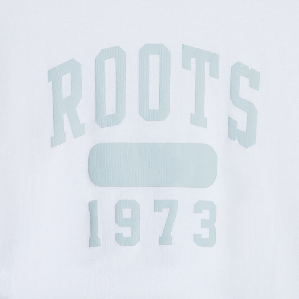 Roots-New For July Daily Offer-Womens Block 1973 Canada T-shirt-Crisp White-D