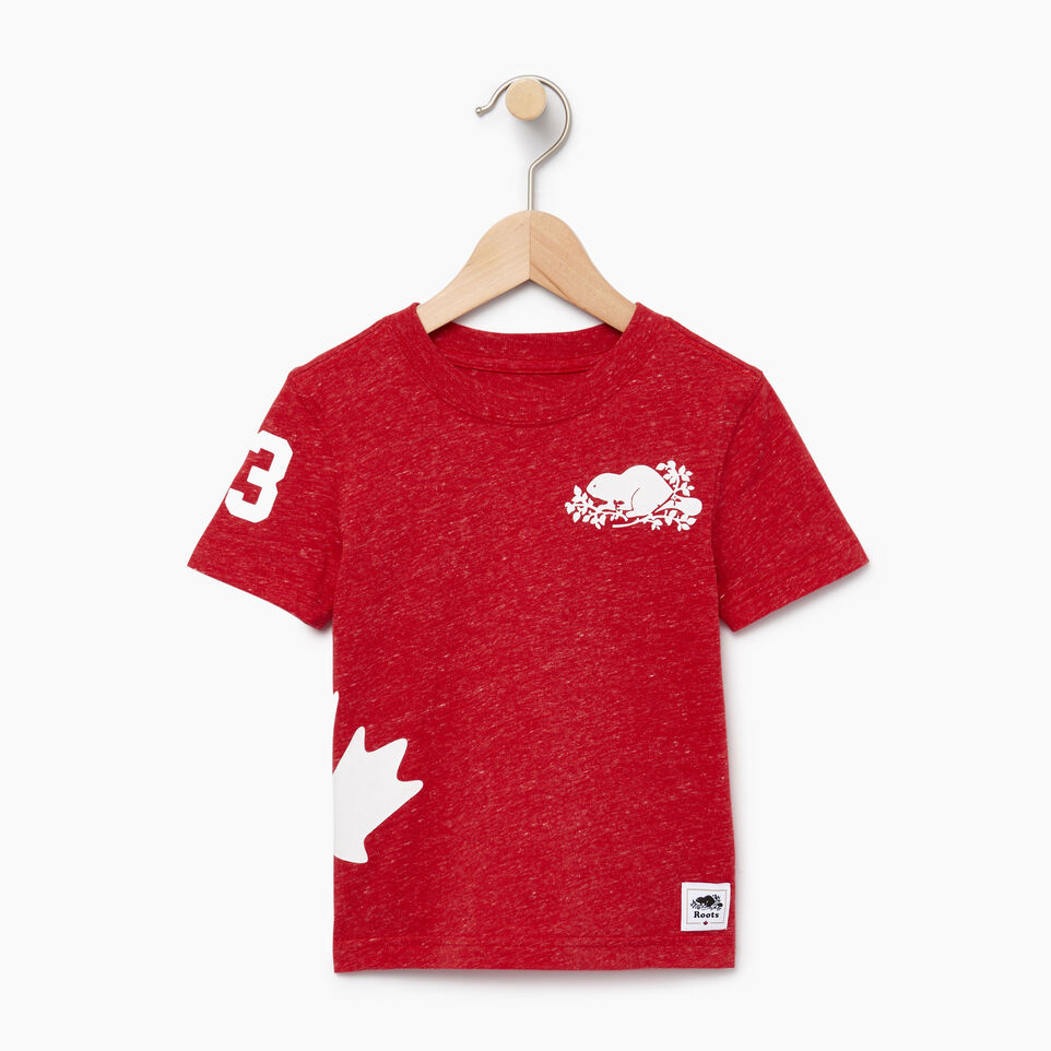 Roots-Kids Our Favourite New Arrivals-Toddler Bedford T-shirt-Sage Red Mix-A