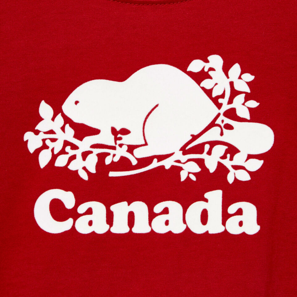 Roots-Kids New Arrivals-Baby Canada T-shirt-Sage Red-D