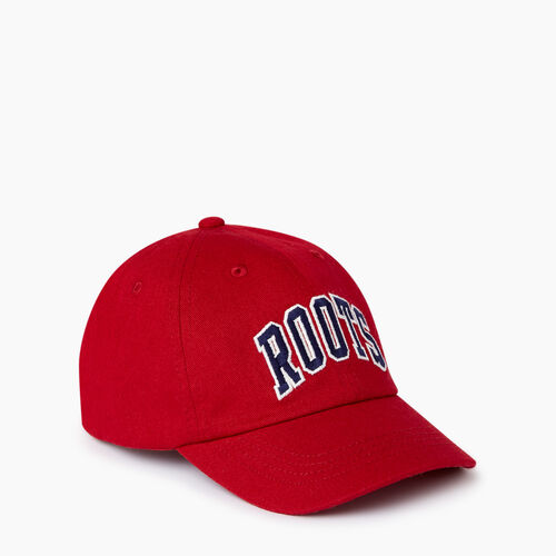 Roots-Kids Categories-Kids Varsity Baseball Cap-Sage Red-A