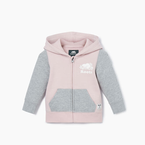 Roots-Kids New Arrivals-Baby Original Full Zip Hoody-Wisteria Mix-A