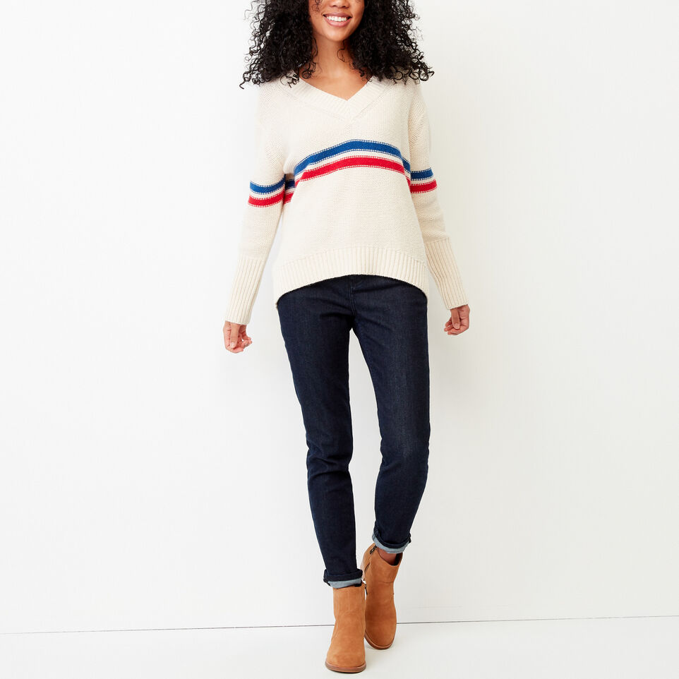 Roots-Women Our Favourite New Arrivals-Westwood V Neck Sweater-Light Fog-B