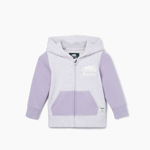 Roots-Sweats Kids-Baby Original Full Zip Hoody-Burnished Lilac-A
