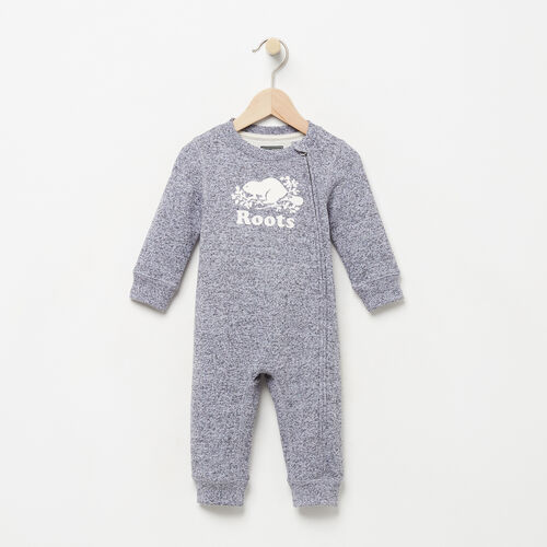Roots-Kids Categories-Baby Original Cooper Beaver Romper-Salt & Pepper-A