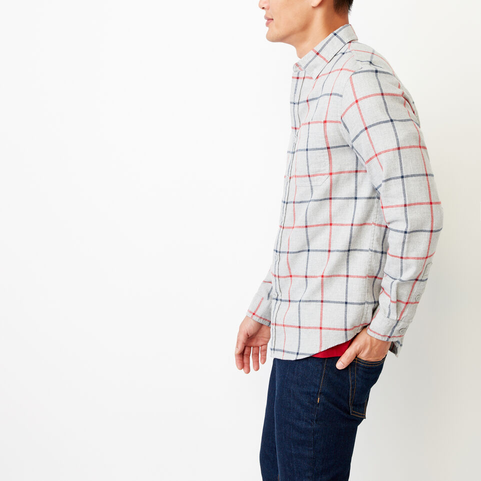 Roots-Men Our Favourite New Arrivals-Nordic Flannel Shirt-Med Grey Mix-C