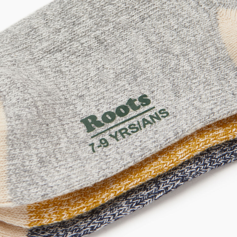 Roots-undefined-Kids Cotton Cabin Ankle Sock-undefined-D