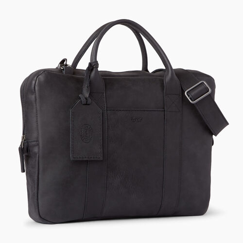 Roots-Leather Collections-Wellington Laptop Bag-Jet Black-A