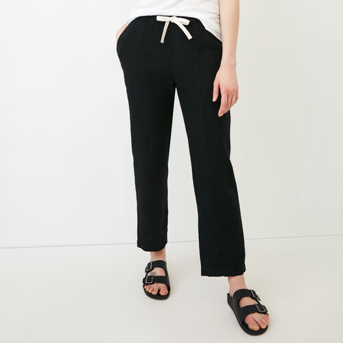Roots-Women Pants-Sadie Pant-Black-A
