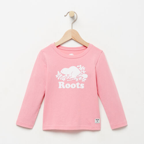 Roots-Winter Sale Toddler-Toddler Original Cooper Beaver T-shirt-Sea Pink-A