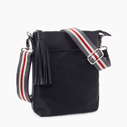 Roots-Leather Crossbody-Smoke Lake Crossbody-Black-A