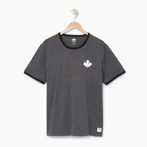 Roots-Men Categories-Mens Canada Cabin Ringer T-shirt-Charcoal Mix-A