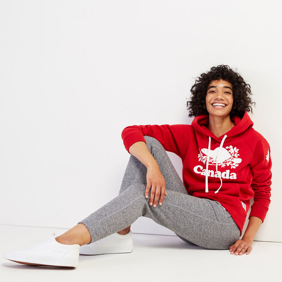 Roots-Women Clothing-Womens Cooper Canada Hoody-Sage Red-B