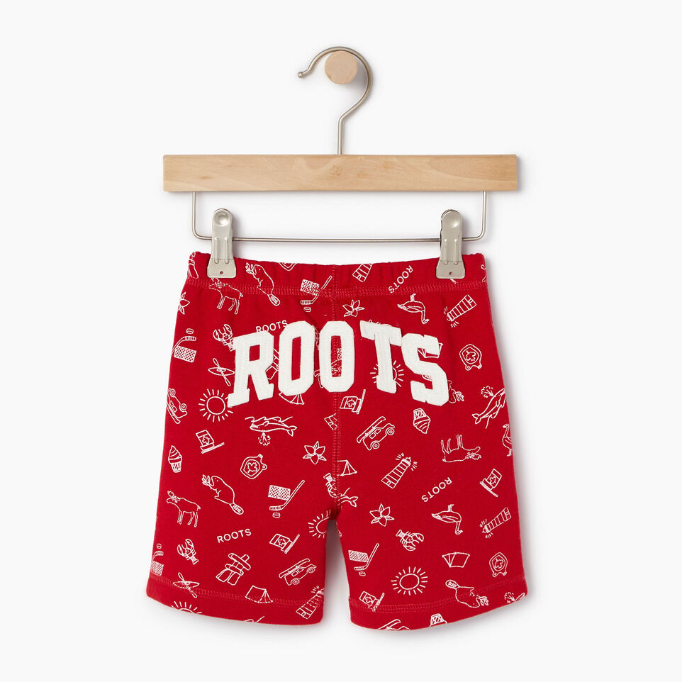 Roots-Kids Our Favourite New Arrivals-Toddler Canada Roots Aop Short-Sage Red-B