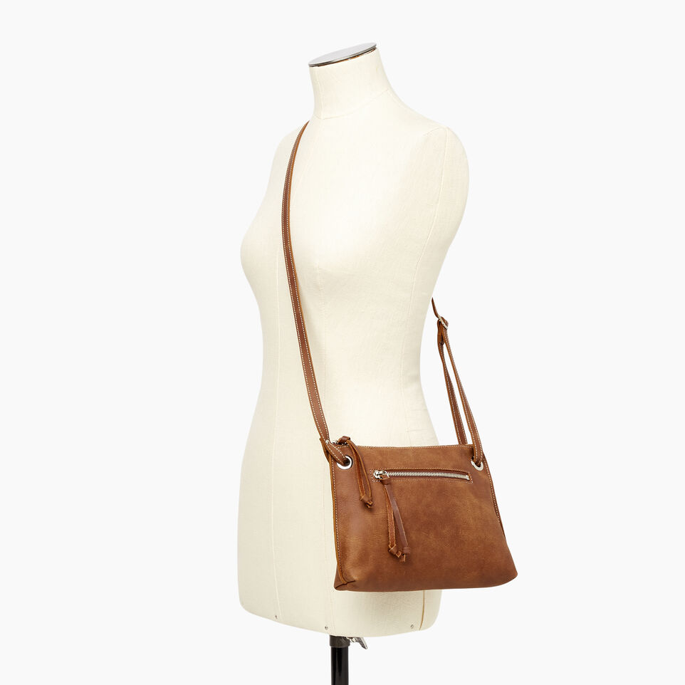 Roots-Leather Handbags-Edie Bag Tribe-Natural-B