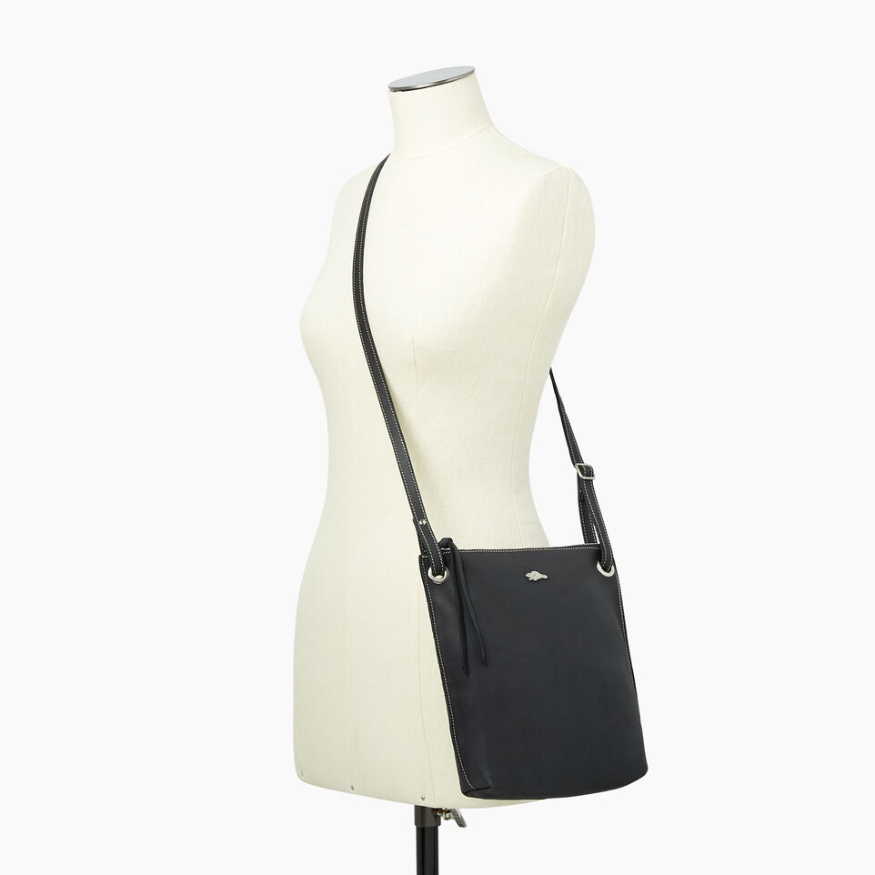 Roots-Leather  Handcrafted By Us Handbags-Festival Bag Tribe-Jet Black-B