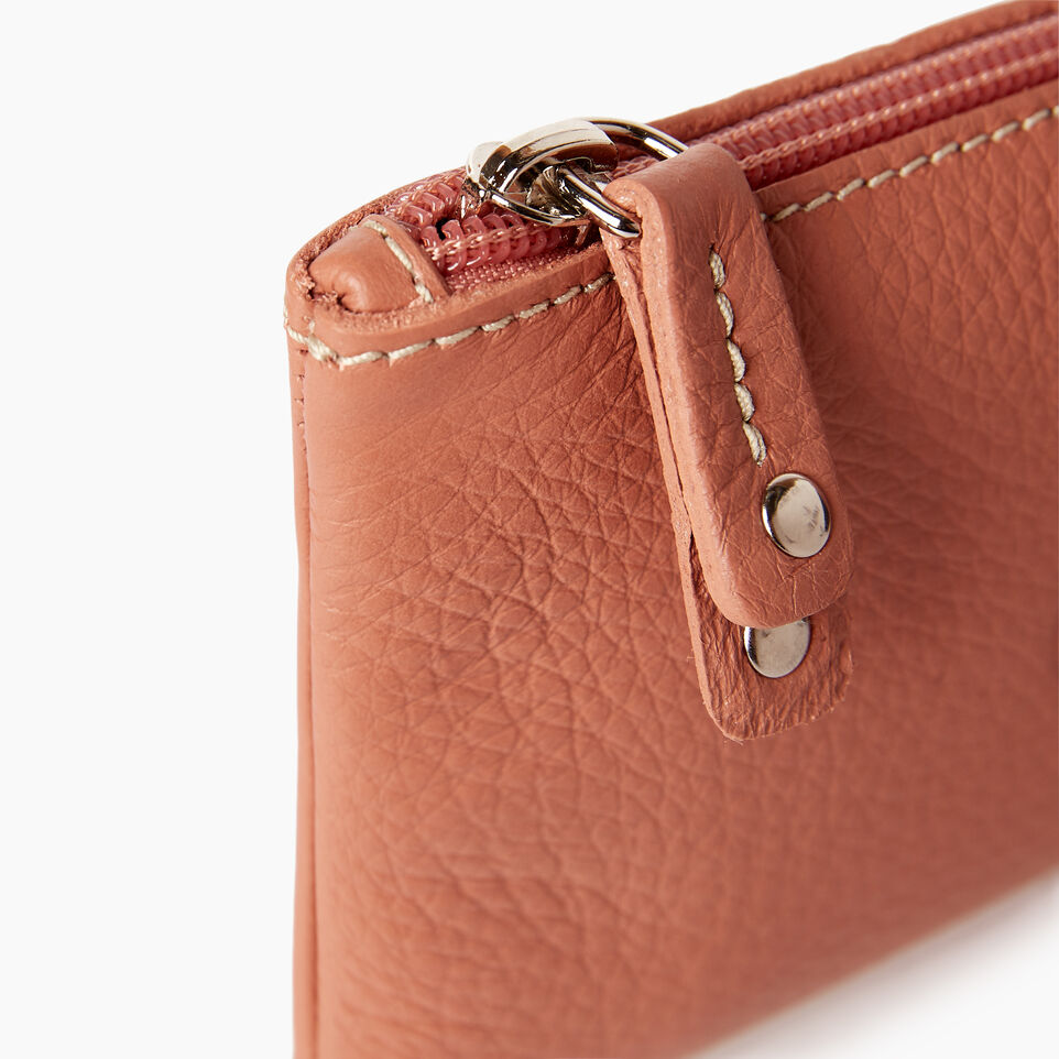 Roots-Leather  Handcrafted By Us Our Favourite New Arrivals-Medium Zip Pouch-Canyon Rose-D