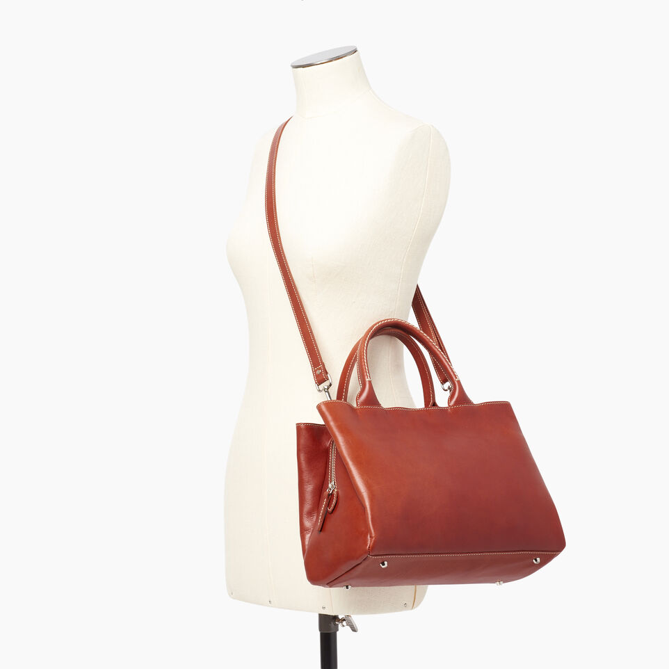 Roots-Leather  Handcrafted By Us Our Favourite New Arrivals-Mont Royal Bag Horween-Cognac-B