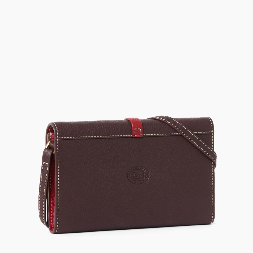 Roots-Leather Wallets-Large Stella Wallet Bag-Raspberry Wine-C