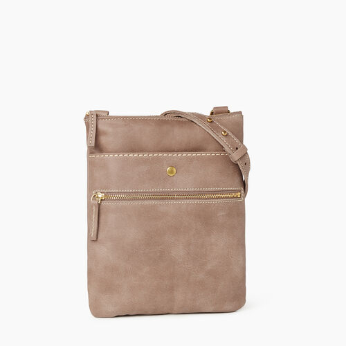 Roots-Leather  Handcrafted By Us Handbags-Rosedale Crossbody-Fawn-A