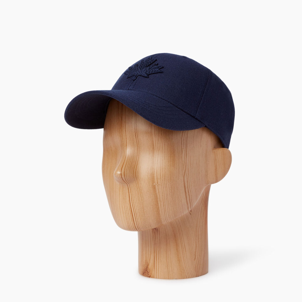 Roots-Men Our Favourite New Arrivals-Modern Leaf Baseball Cap-Navy-B