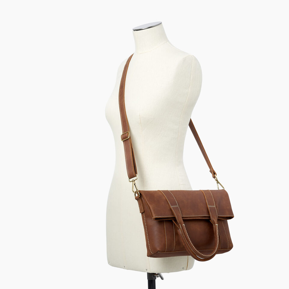 Roots-Leather  Handcrafted By Us Handbags-Annex Tote-Natural-B