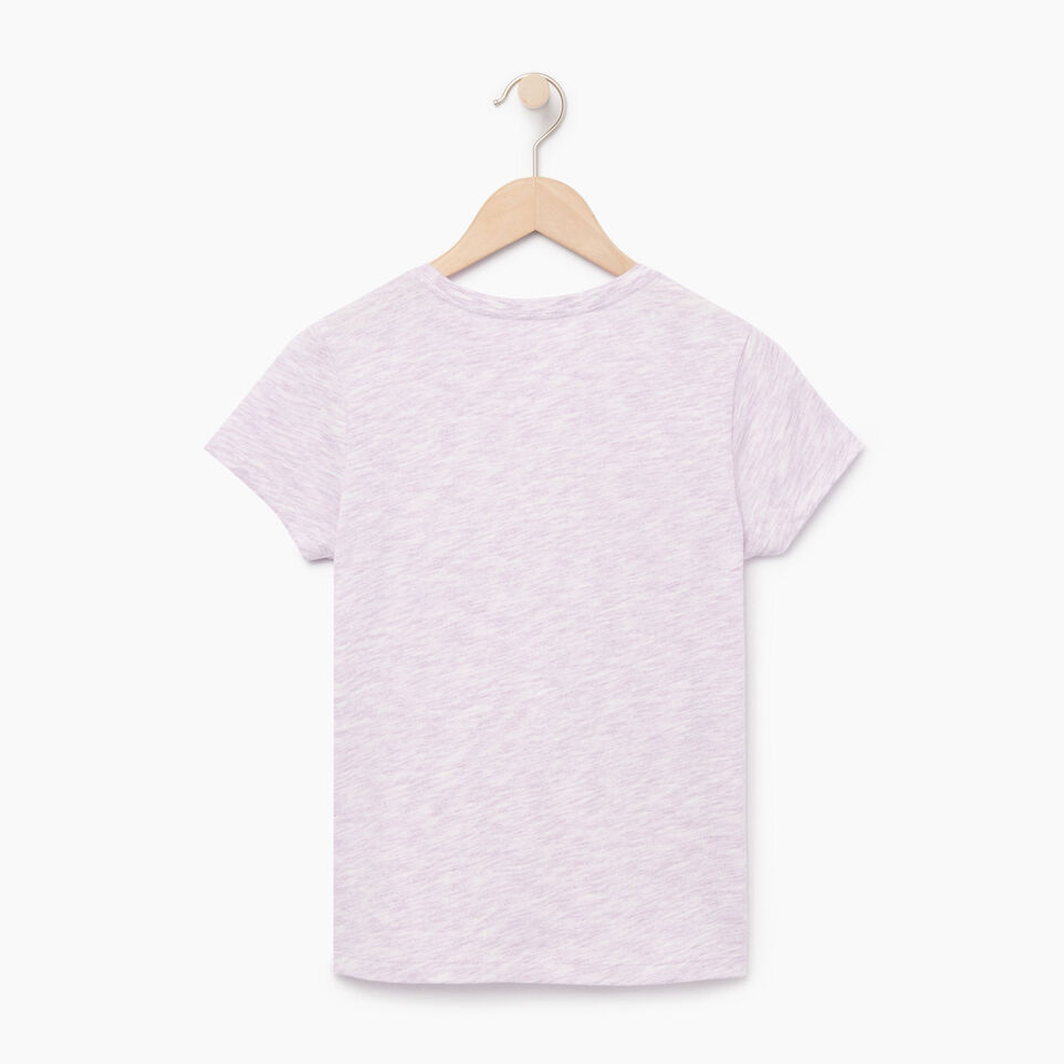 Roots-Kids Our Favourite New Arrivals-Girls Roots Space Dye T-shirt-Lavendula-B